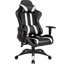 fauteuil de bureau racing tectake chaise fauteuil siège de bureau racing sport ergonomique