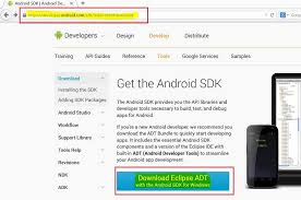 developer android sdk index html and install eclipse adt package