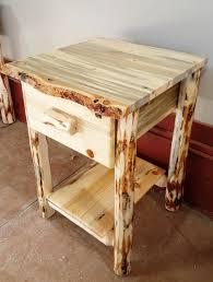 montana pioneer rustic 1 drawer log nightstand u2013 great northern