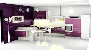 mur cuisine aubergine cuisine couleur aubergine inspirations violettes en 71 idées