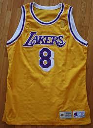 lot detail 1996 97 kobe bryant rare rookie year game worn jersey