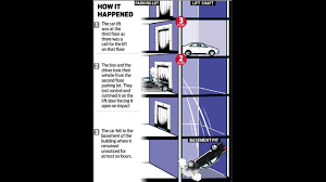 elevator death bizzare car elevator incident kills 14 year old driver latest