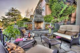 Outdoor Patio Fireplaces Relaxing Outdoor Fireplace Designs For Your Garden