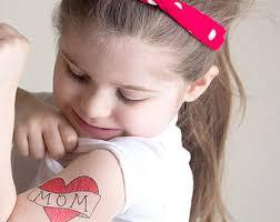 mom heart tattoo etsy