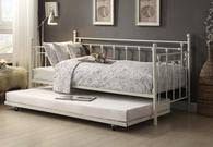 4964bk nt jones metal daybed with trundle collection by home elegance