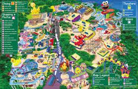 2007 World Map by Theme Park Brochures Sesame Place Theme Park Brochures