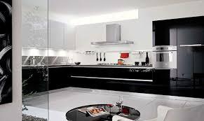cuisine en noir cuisine noir et blanc laque une en inspiration homewreckr co