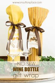 wine bottle wraps no sew wine bottle gift wrap on sutton place