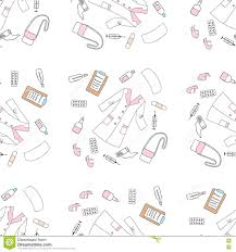 seamless pattern with medical things stock vector image 71465893