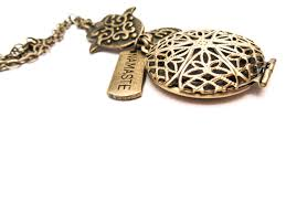 namaste essential oil diffuser necklace from alternative