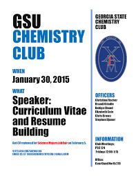 Chemist Resume Events U2013 Chemistry Club
