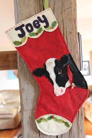 christmas cow stockings felt project felt christmas crafts