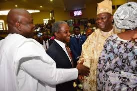 ambode osinbajo at bishop okonkwo s birthday thanksgiving