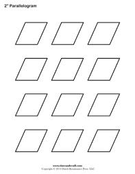 printable parallelogram templates free shape templates blank pdfs