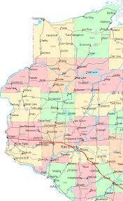 Maps Wisconsin by Online Map Of Wisconsin Central West