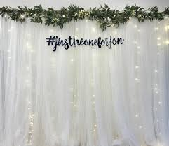 tulle backdrop white tulle backdrop with artificial foliage fairy lights 2 5m
