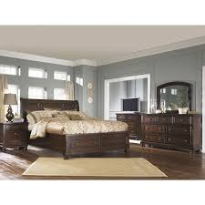 Sleigh Bed With Drawers Porter Queen Sleigh Bed With Storage In Burnished Brown Nebraska