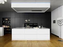 ilot cuisine blanc cuisine gris anthracite 56 idées pour une cuisine chic et moderne