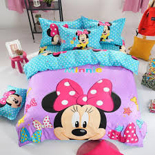 Mickey Mouse King Size Duvet Cover Mouse Pattern Bedding Set