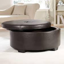 Nautical Storage Ottoman Coffee Table Round Leather Storage Ottoman Coffee Table Furniture