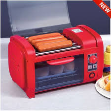 Fun Toaster Great For Summer Dog Roller Grill Cooker Machine And Bun