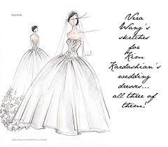 kim kardashian u0027s vera wang wedding dress sketches revealed