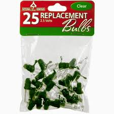 replacement bulbs 25 pack clear national tree parts store