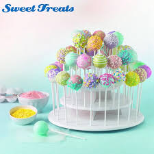 cake pop stands sweettreats 3 tier white cake pop stand holds 40 cake pops