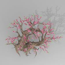 3d peach blossom tree cgtrader