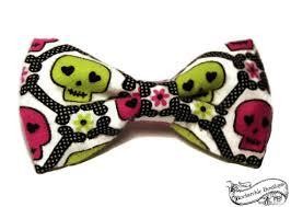 skull hair bow dia de los muertos pastel accessories