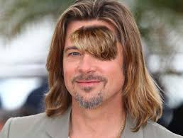 Hairstyles For Guys Growing Their Hair Out by Brad Pitt Decides To Grow Out Forehead Hair Crazy Beard Stupid