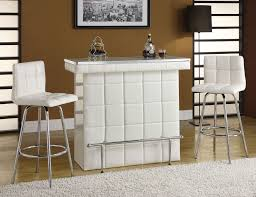 Dining Room Bar Table by Ronnie White Pu Leather 3pc Bar Table Set W Wine Storage