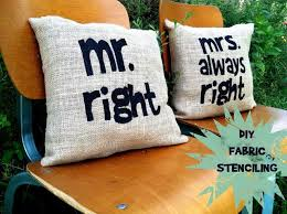 Diy Sewing Projects Home Decor 94 Best Stenciled Burlap Images On Pinterest Burlap Crafts