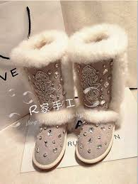 womens flat boots australia luxury rabbit fur boots shoes warm boots flat