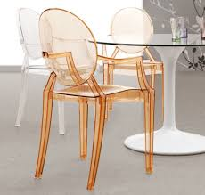 Clear Acrylic Dining Chairs Furniture Create A Beautiful And Artistic Statement With Ghost
