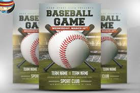 baseball flyer template 2 flyer templates creative market