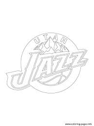 lakers coloring pages utah jazz logo nba sport coloring pages printable