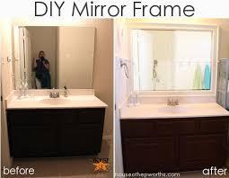 diy bathroom mirror frame ideas diy bathroom mirror frame ideas diy mirror frame diy mirror frame