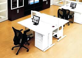 T Shaped Desk For Two Stylish Dual Workstation Desk With Regard To T Shaped For Two