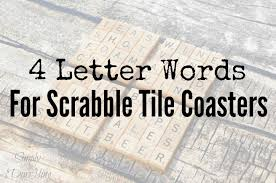 scrabble tile coaster word ideas simply darr ling
