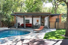 Backyard Decoration Ideas Outdoors Decorating Trendy Pool House With Modern Furniture Also