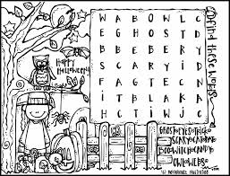 halloween word searches printable