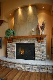 house wonderful river rock fireplace decor glass rock fireplace