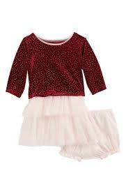 baby holiday dresses ruffle silk u0026 velour nordstrom