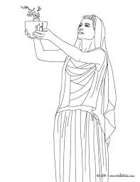 hestia the greek goddess of the family coloring pages hellokids com