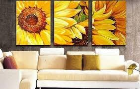 Living Room Art Canvas by Abstract Art Flower Art Sunflower Painting Canvas Art Canvas