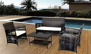 patio furniture sets rattan wicker patio dining 4 pcs indoor