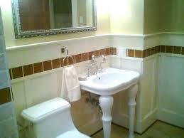 bathroom sink backsplash ideas pedestal sink with backsplash home design lover powder room pedestal