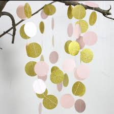 5pcs pink and gold glitter garland baby nursery pink wall