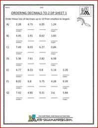 ordering decimals worksheet 4th grade free worksheets library